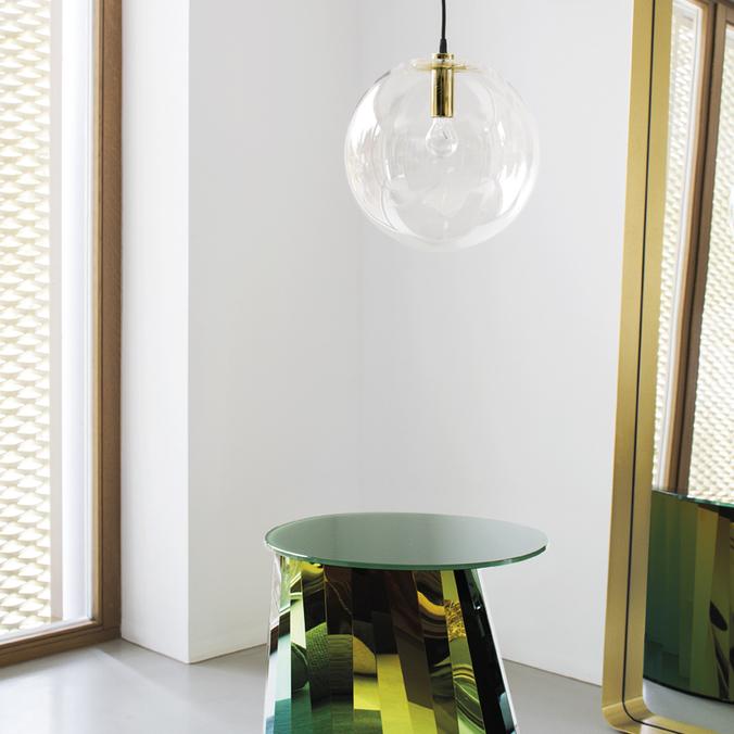 Cypris Mirror, Pli Side Table, Selene