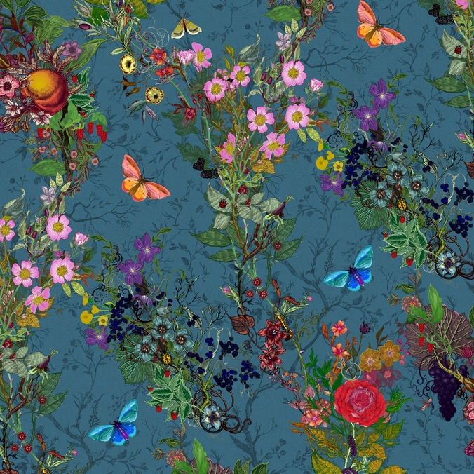 Bloomsbury Garden, Teal